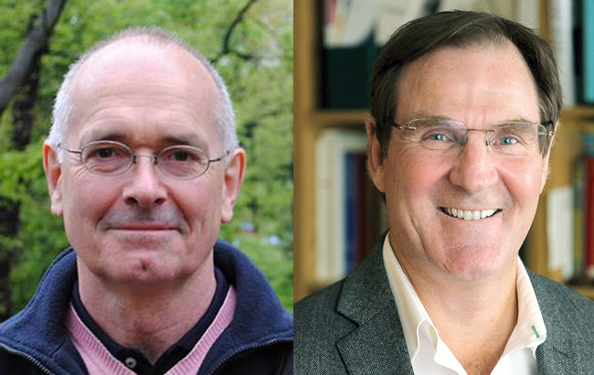 Professors John A. Hall (left) and Alan Evans are the newest recipients of a prestigious Prix du Québec award.
